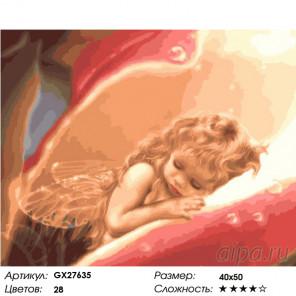 Количество цветов и сложность Маленький ангел Раскраска картина по номерам на холсте GX27635
