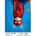Кот супергерой Раскраска картина по номерам на холсте