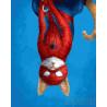 Кот супергерой Раскраска картина по номерам на холсте GX27603