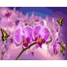 Цветок орхидеи Раскраска картина по номерам на холсте GX27547