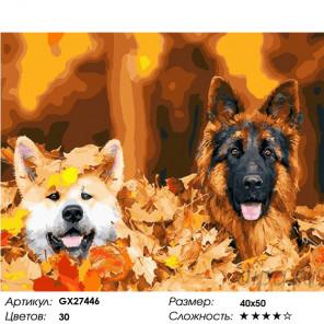 Количество цветов и сложность В осенней листве Раскраска картина по номерам на холсте GX27446