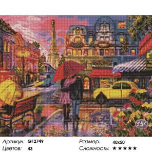 Количество цветов и сложность Под зонтом вместе Алмазная вышивка мозаика Painting Diamond GF2749
