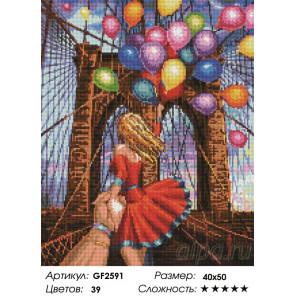 Количество цветов и сложность Следуй за мной. Бруклин Алмазная вышивка мозаика Painting Diamond GF2591