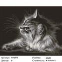 Количество цветов и сложность Серая кошка Алмазная вышивка мозаика Painting Diamond GF2575