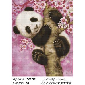 Количество цветов и сложность Панда на ветке Алмазная вышивка мозаика Painting Diamond GF1779
