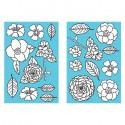 Цветы и листья Серебряные контуры 33266 Марта Стюарт Martha Stewart