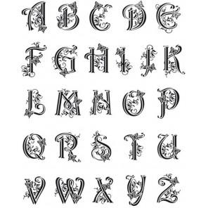 Алфавит латинский Штампысиликоновые прозрачные Набор для скрапбукинга, кардмейкинга Viva Decor
