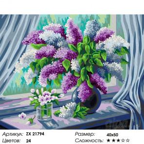 Количество цветов и сложность Весенняя свежесть Раскраска картина по номерам на холсте ZX 21794