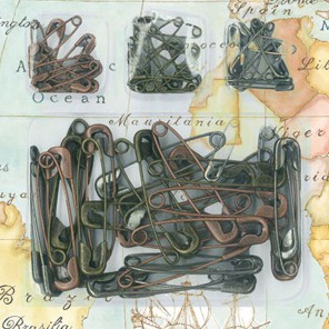 Булавки металлические для скрапбукинга, кардмейкинга Stamperia