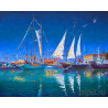 Яхты в Сочи Раскраска картина по номерам на холсте ZX 21797