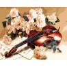 Скрипка и розы Раскраска картина по номерам на холсте ZX 21444
