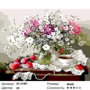 Количество цветов и сложность Цветы и сливы Раскраска картина по номерам на холсте ZX 21441