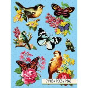 Бабочки и птицы Стикеры для скрапбукинга, кардмейкинга K&Company