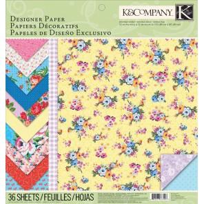 Цветок и стебелек Набор бумаги для скрапбукинга, кардмейкинга K&Company Создание альбомов, открыток ( скрапбукинг, кардмейкинг)