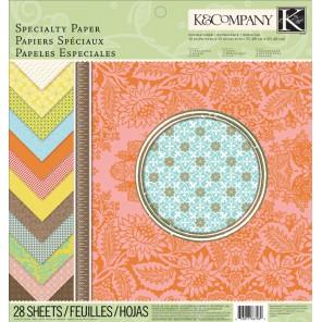 Почтовый штемпель Набор бумаги специальной для скрапбукинга, кардмейкинга K&Company Создание альбомов открыток своими руками
