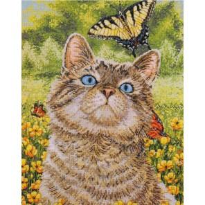 Котенок в лютиках 45397 Набор для вышивания Bucilla