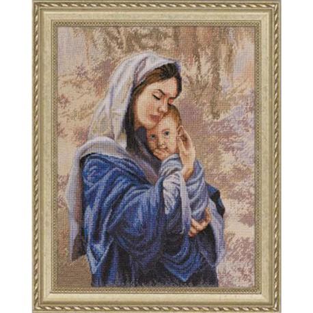 Мать и дитя 45436 Набор для вышивания Bucilla Счетный крест вышивка