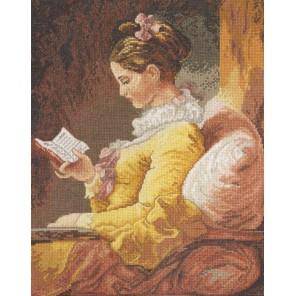 Девушка с книгой Набор для вышивания Bucilla