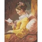 Девушка с книгой 45461 Набор для вышивания Bucilla Счетный крест вышивка