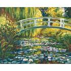 Пруд с лилиями ( репродукция Клод Моне ) Раскраска по номерам акриловыми красками Schipper (Германия) картина по цифрам