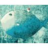 Рыба-дом Раскраска картина по номерам на холсте ZX 21491