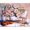 Натюрморт со скрипкой Раскраска картина по номерам на холсте ZX 21517
