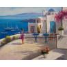 Греческий пейзаж Раскраска картина по номерам на холсте ZX 21699