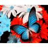 Бабочка на цветах Раскраска картина по номерам на холсте ZX 21761