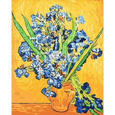 Ирисы Ван Гога Раскраска по номерам ( Картина ) на холсте ...
