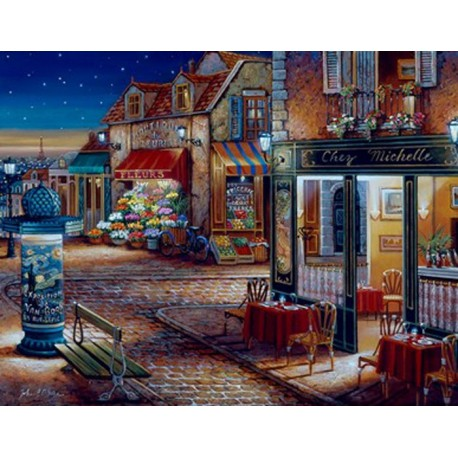 Звездная ночь 21757 Раскраска по номерам акриловыми красками Plaid
