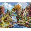 Водопад Ангела Раскраска картина по номерам Plaid