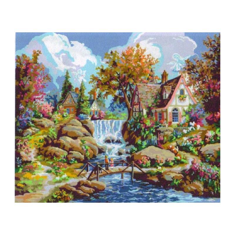 Водопад Ангела Раскраска картина по номерам Plaid PLAID ...