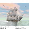 Корабль под парусом Раскраска картина по номерам на холсте
