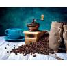 Кофейное наслаждение Раскраска картина по номерам на холсте ZX 21726