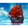 Корабль в океане Раскраска картина по номерам на холсте ZX 21721
