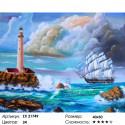 Морской пейзаж с маяком Раскраска картина по номерам на холсте