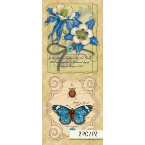 Цветы и бабочка Стикеры для скрапбукинга, кардмейкинга K&Company