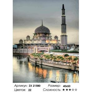 Количество цветов и сложность Тюльпанная мечеть Раскраска картина по номерам на холсте ZX 21580