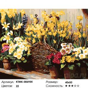 Количество цветов и сложность Многообразие цветов Раскраска картина по номерам на холсте KTMK-006954
