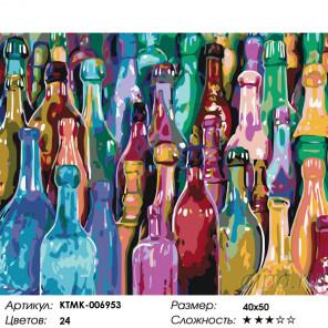 Количество цветов и сложность Радуга стекла Раскраска картина по номерам на холсте KTMK-006953