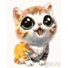 Котенок с выразительными глазами Раскраска картина по номерам на холсте KTMK-13291