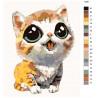 Раскладка Котенок с выразительными глазами Раскраска картина по номерам на холсте KTMK-13291