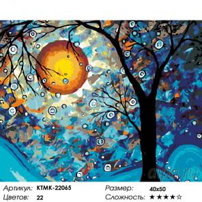 Количество цветов и сложность Волшебство в свете луны Раскраска картина по номерам на холсте KTMK-22065