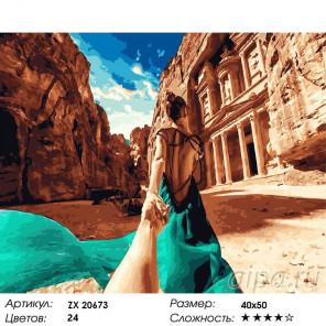Количество цветов и сложность Иордания. Следуй за мной Раскраска картина по номерам на холсте ZX 20673