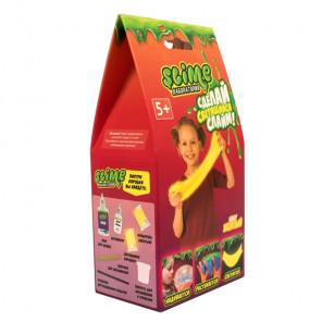 Внешний вид коробки упаковки Желтый светящийся Slime Малый набор Лаборатория SS100-1