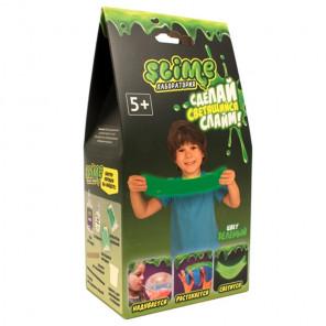 Внешний вид коробки упаковки Зелёный светящийся Slime Малый набор Лаборатория SS100-4