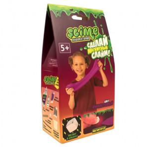 Внешний вид коробки упаковки Фиолетовый магнитный Slime Малый набор Лаборатория SS100-3018