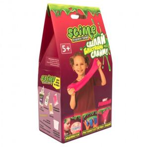 Внешний вид коробки упаковки Розовый блестящий Slime Малый набор Лаборатория SS100-2