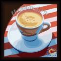 Крепкий кофе Раскраска по номерам акриловыми красками на холсте Hobbart Картина по цифрам