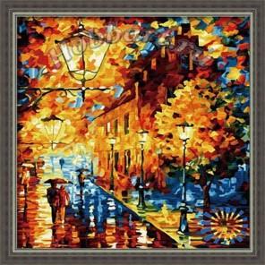 Прогулка под дождем Раскраска по номерам акриловыми красками на холсте Hobbart
